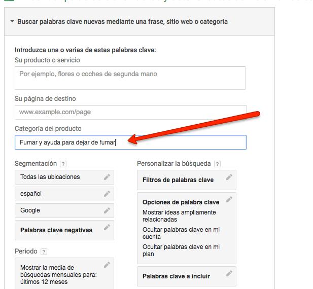 utilizar el keyword planner