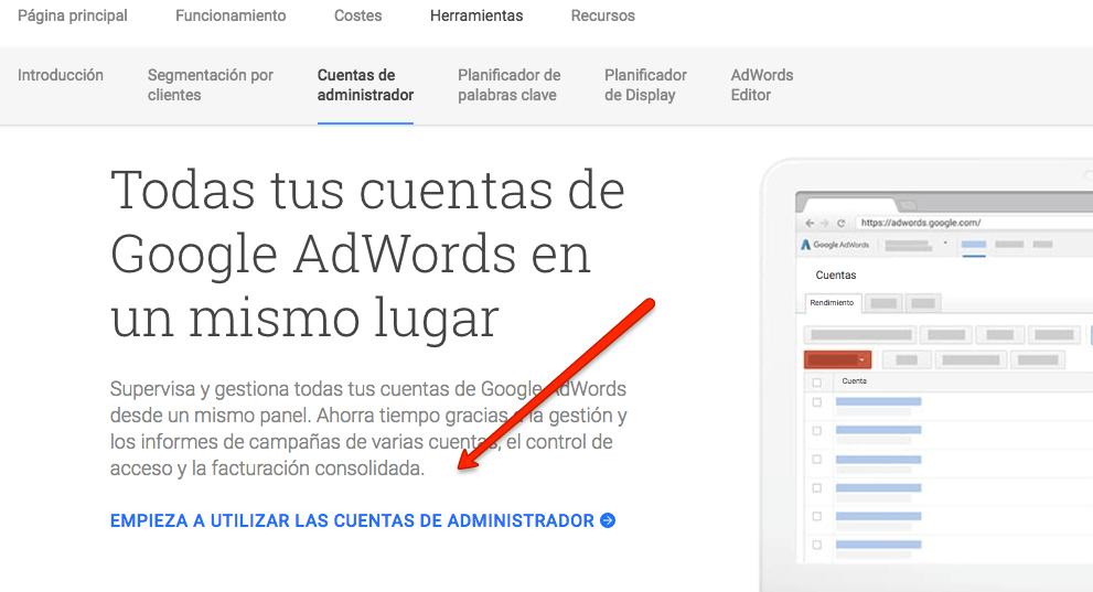 abrir una cuenta en Google Adwords