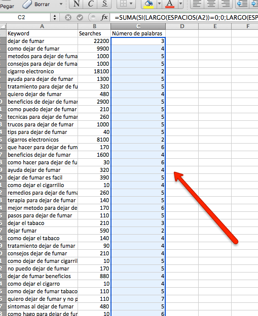 Excel para ganar dinero con un blog de micronicho